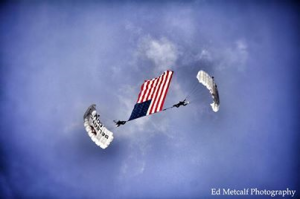 american flag show, charity show, veteran event, patriotic event, charity skydive, american flag, flag show, stack, crw show