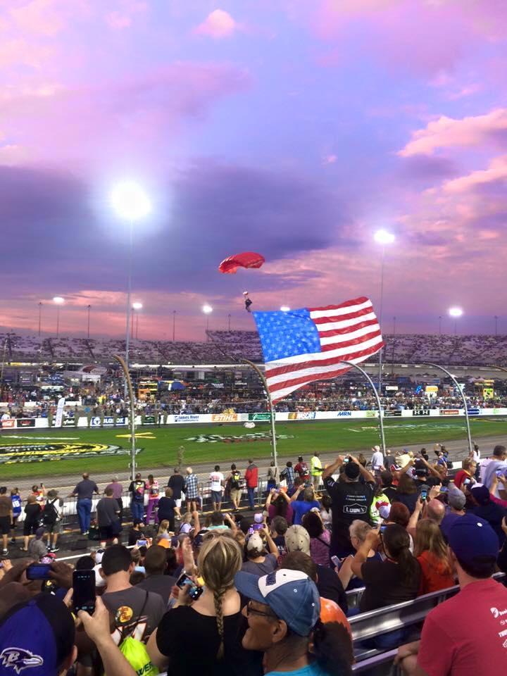 nascar, indycar, formula one, american flag show, flag show, professional racing, american flag, skydive