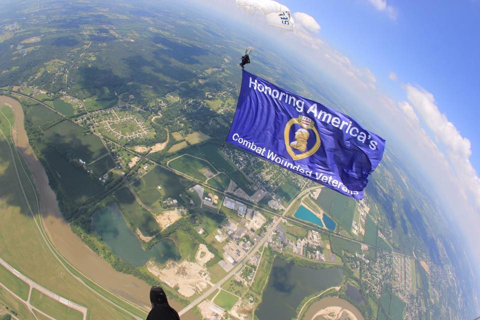 veteran event, charity skydive, charity event, patriotic event