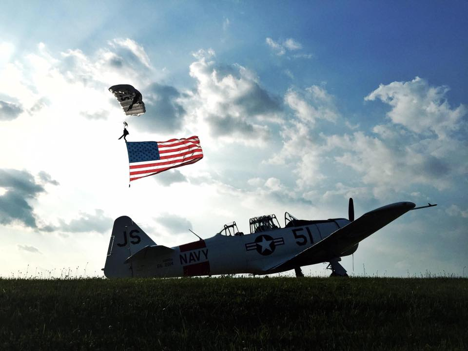 air show, veteran, charity event, american flag
