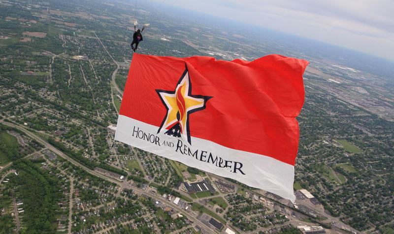 honor and remember, gold star, veteran, skydive
