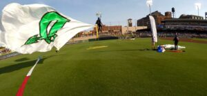 Team Fastrax performs at a Dayton Dragons game