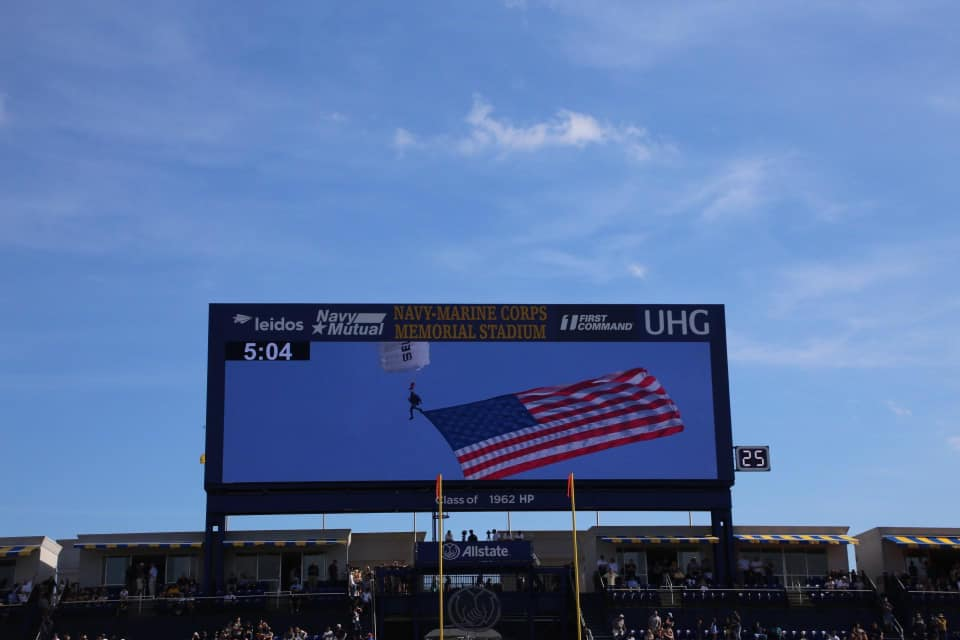 Navy Football Game to Start with Patriotic Skydive